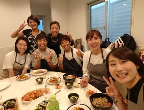 アスリートビューティー×食 料理教室を開催しました。